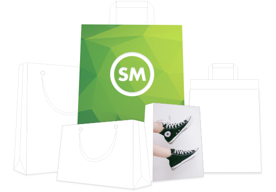 ecommerce online store shopping bags