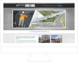 Evolution Shotcrete - Website Design