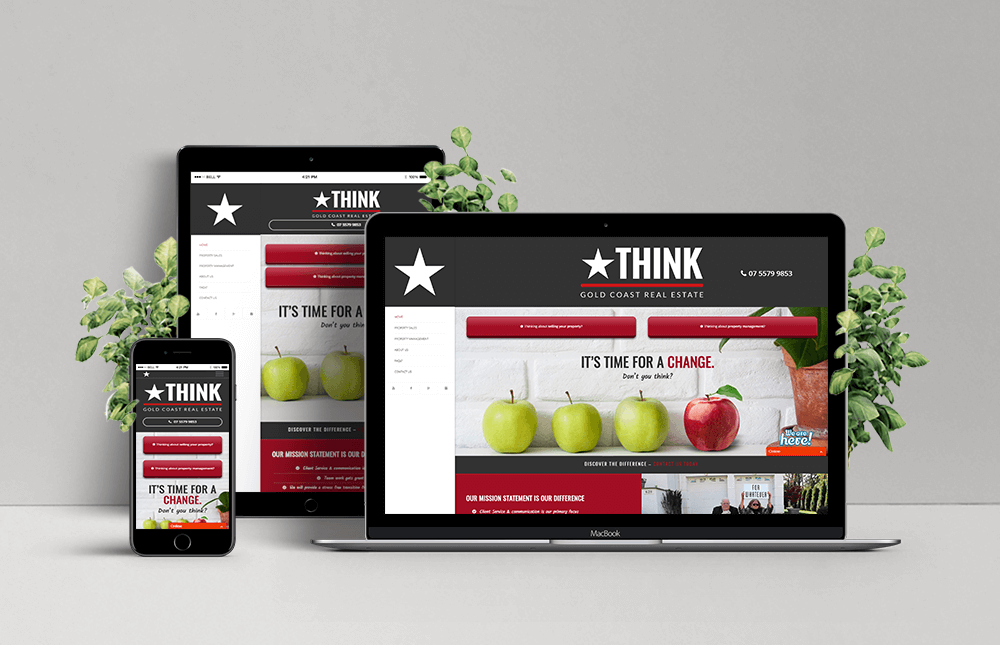 Think Gold Coast Real Estate Responsive Website