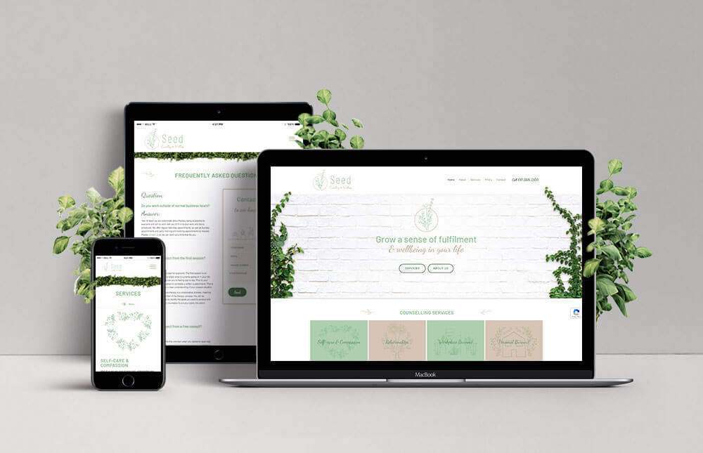 Seed Counselling and Wellness Responsive Website