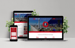 Laptop, Ipad and Phone showing example of Elevate Recruitment responsive website