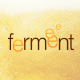 Ferment Logo ontop of beer