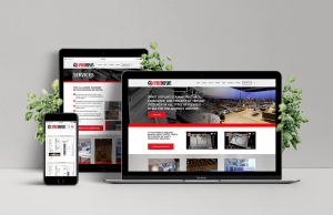 Laptop, Ipad and Phone showing example of Spirit Displays Australia responsive website
