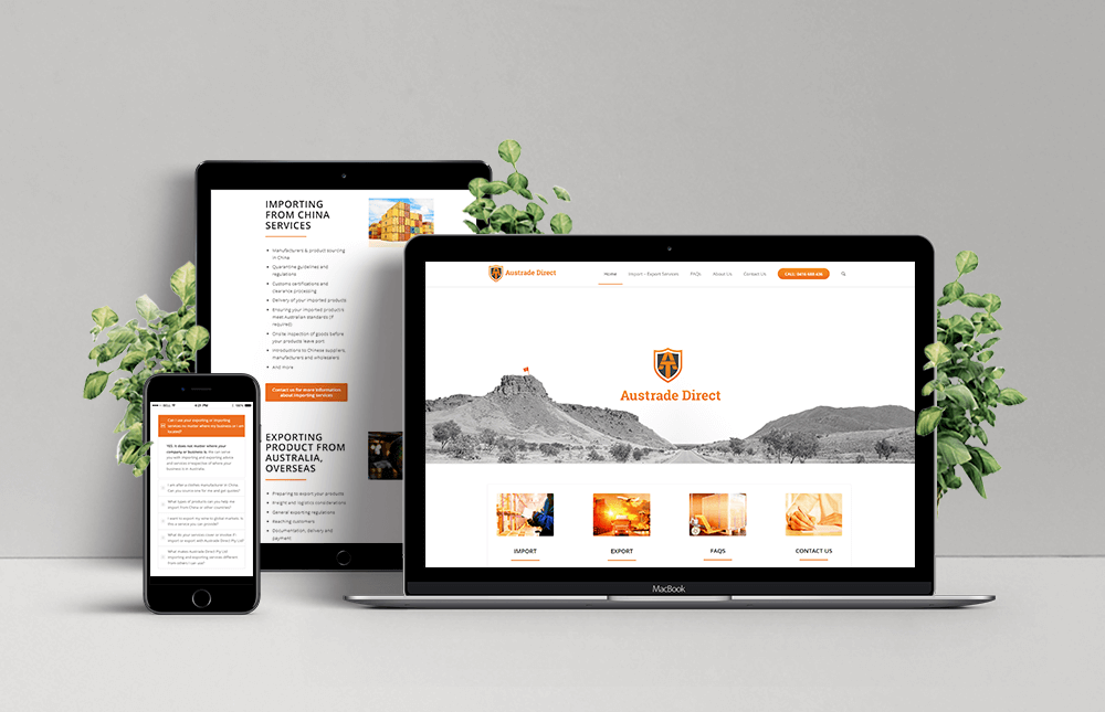 Austrade Direct Mobile Responsive Website